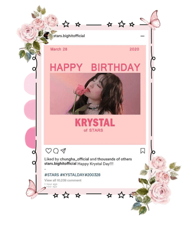 STARS   Insta update 'Krystal Bday'