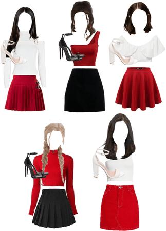(fan group) créme debut outfits
