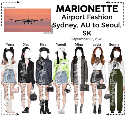 MARIONETTE (마리오네트) Airport Fashion | Sydney, AU to Seoul, SK