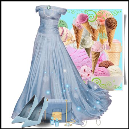 Blue gown Ice cream
