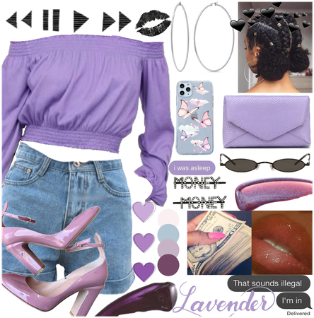 Lavender Black girl Fit hope chu like it 💜