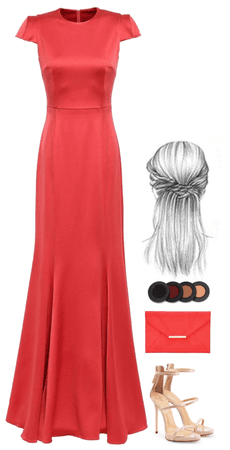 Coral Gown Fashion
