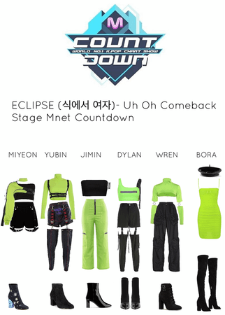 ECLIPSE (식에서 여자)- Uh Oh Comeback Stage Mnet Countdown