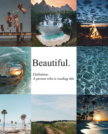 summer: you are beautiful just the way you are :)