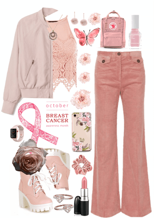 // i wear pink for my grandmother //