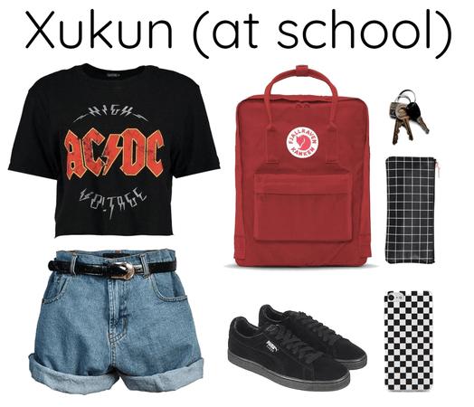 Xukun (Nine percent) at school