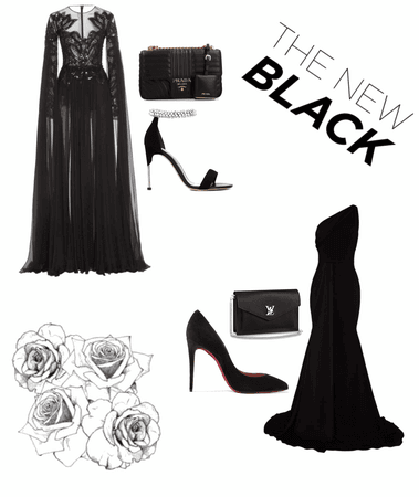 Red Carpet Look Black Aesthetic