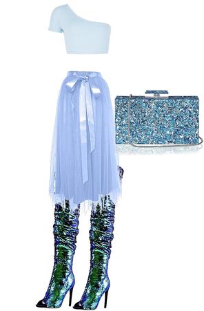 Blue Sparkle queen