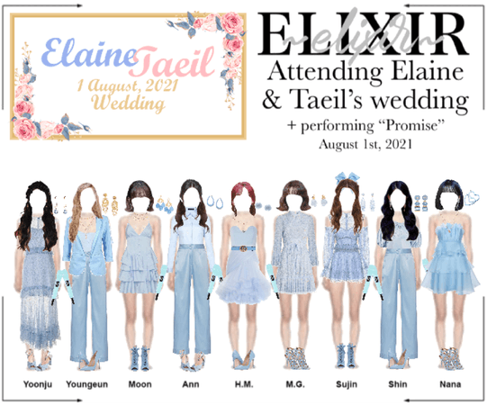 ELIXIR (엘릭서) | Attending & performing at Elaine and Taeil's wedding