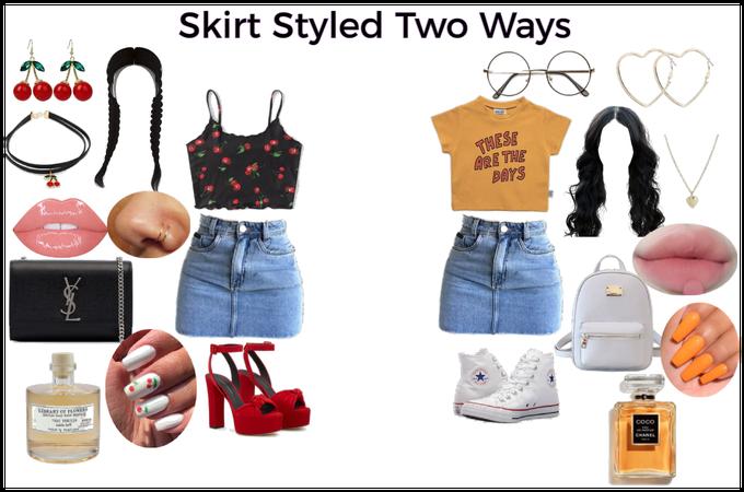 Style a Skirt 2 Ways