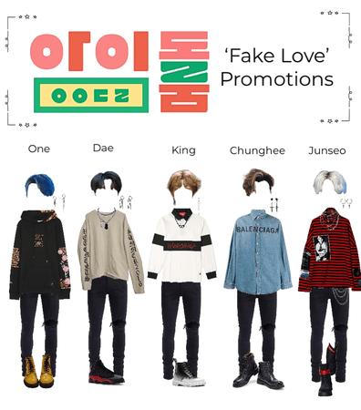 'Fake Love' Idol room promotions