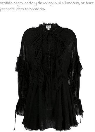 vestido negro-tendencia de otoño 2019