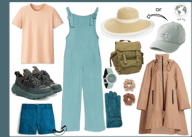 Pastel camping