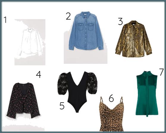 sete estilos universais/blusas