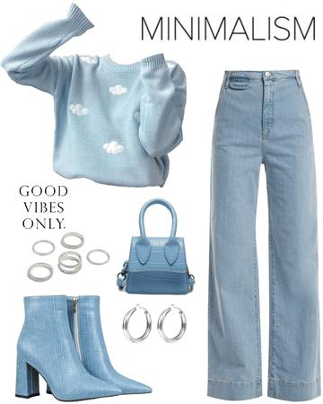minimalism blue
