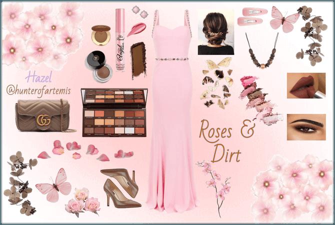 Roses & Dirt | Hazel@hunterofartemis | #pink&brown
