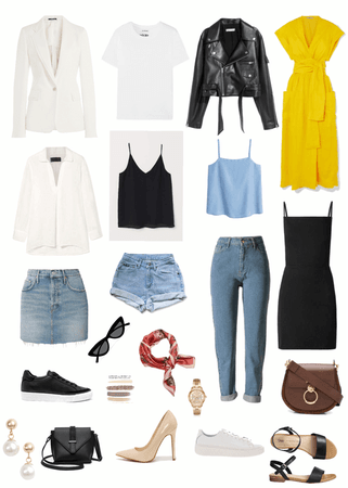 capsule wardrobe. summer