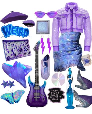 neon blue and purple nights
