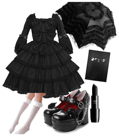 misa gothic lolita inspired outfit