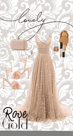 prom-a-tastic rose gold mess