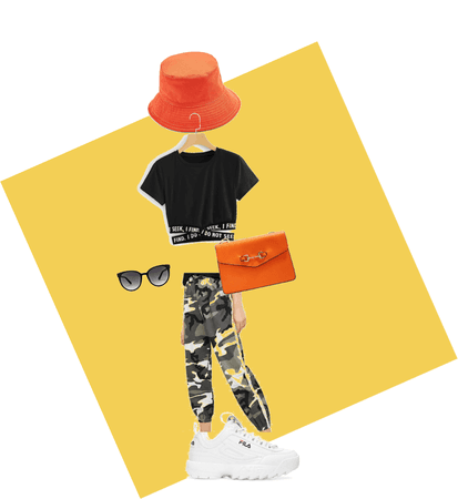 how to style orange hat