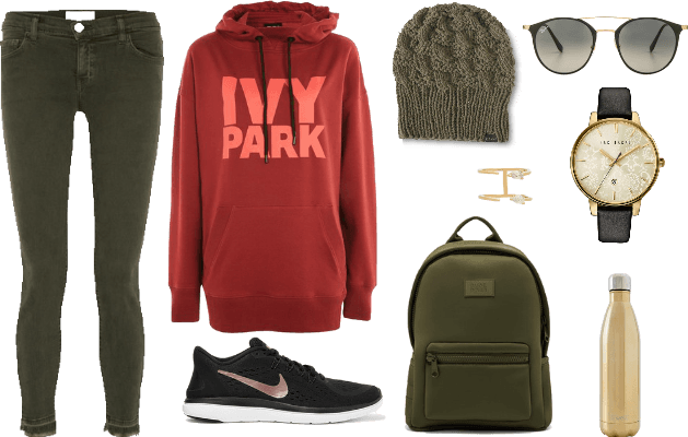 hoodie and sneakers go together like...