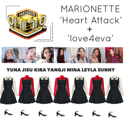 {MARIONETTE} Inkigayo Stage 'Heart Attack' + 'love4eva'