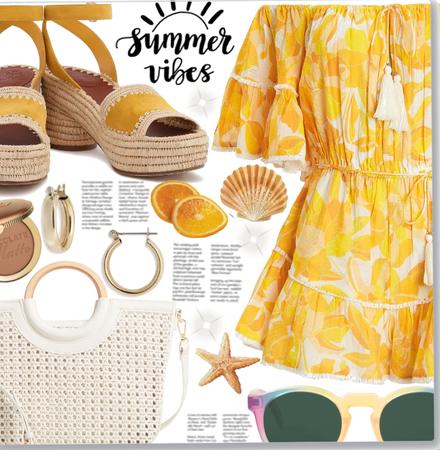 Orange Romper&Orange Sandals!