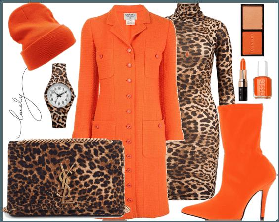 Leopard Print and orange