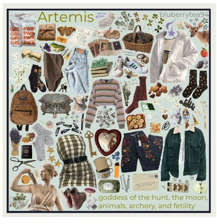 Artemis moodboard