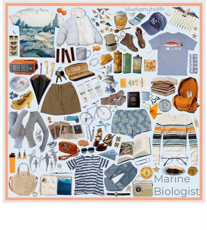 marine biologist moodboard