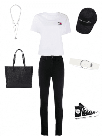 basic black&White outfit