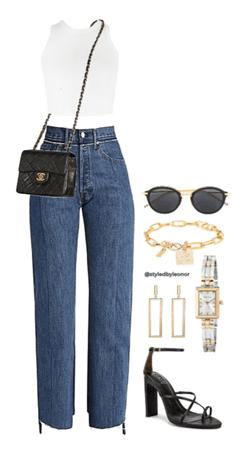 Casual Glam Street Wear Look