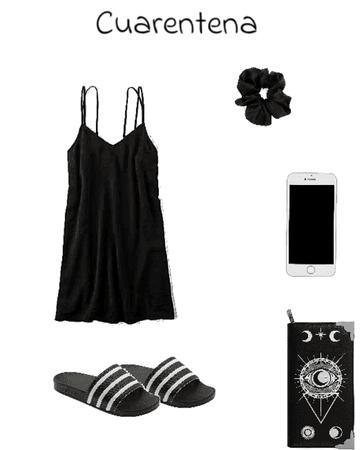 Summer cuarentena black dress (jk)