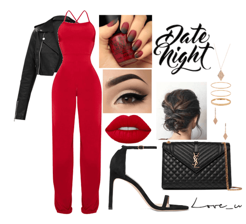 Red and black date night
