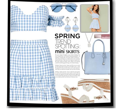 spring trend mini skirt