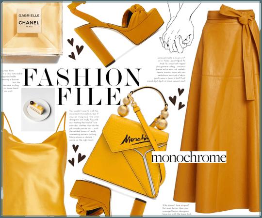 summer monochrome: mustard ✨