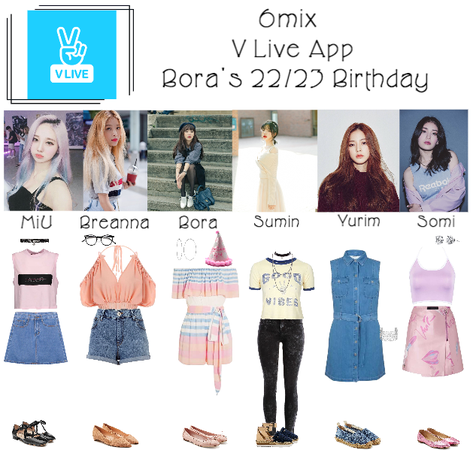 《6mix》V Live App: Bora's 22/23 Birthday
