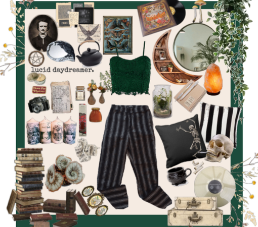 A bedroom moodboard | Stay at home look