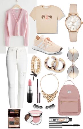Pink schoolgirl