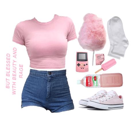 sweet pinky look