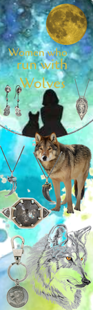 Women who run with Wolves jewelry collage