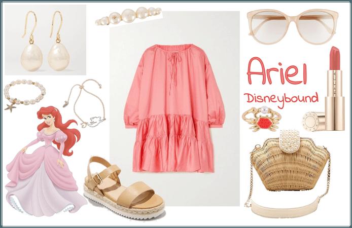 Disneybound Ariel Pink Dress
