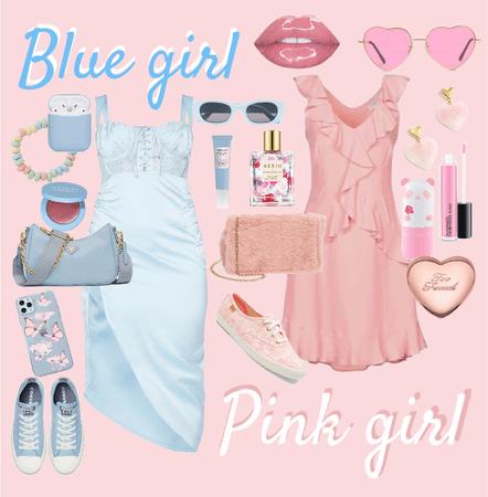 Blue girl / Pink Girl