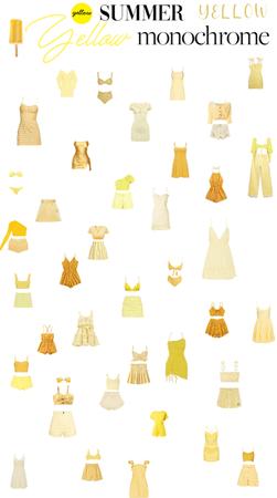 yellow summer monochrome