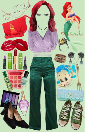 Ariel's Disneybounding collage!