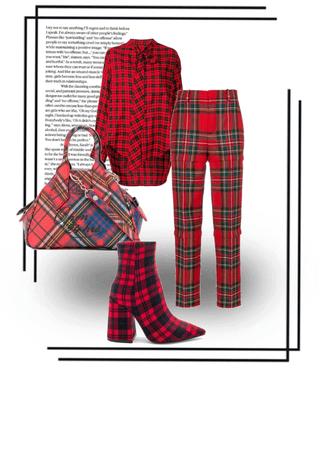 Make a statement in red tartan