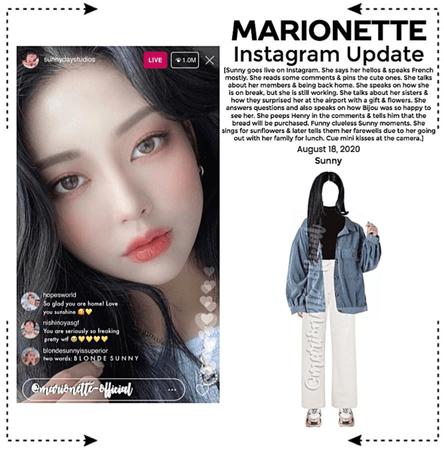 MARIONETTE (마리오네트) [SUNNY] Instagram Live