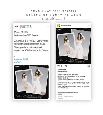 마리오네트 (𝗠𝗔𝗥𝗜𝗢𝗡𝗘𝗧𝗧𝗘) - [SUNNY] AOMG + Jay Park Welcoming Sunny
