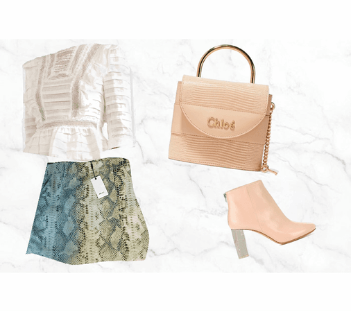 Blush Snakeskin Fall Outfit